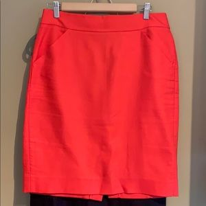 Coral J. Crew The Pencil Skirt